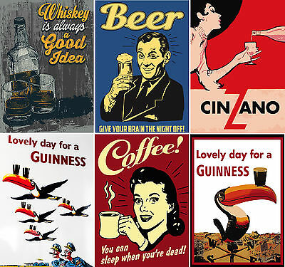 Vintage Drink Posters And Pictures Upto A1 Size,  Frames Available