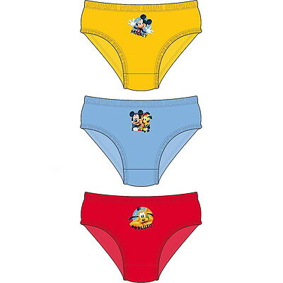 NEW OFFICIAL Mickey Mouse Disney Toddler Boys Briefs Pants / Underwear 3-Pack