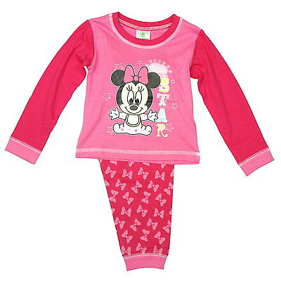 NEW OFFICIAL Minnie Mouse Disney Baby Girls Pyjamas 6-9 9-12 12-18 18-24 Months
