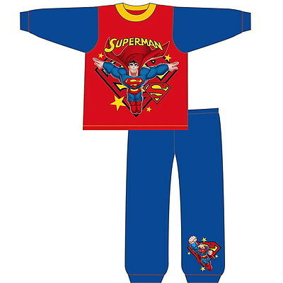 NEW OFFICIAL Superman DC Comics Toddler Boys Pyjamas PJs 18-24 2-3 3-4 4-5