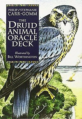 Druid Animal Oracle Deck by Philip Carr-Gomm (Cards) New Free Shipping..48 pages