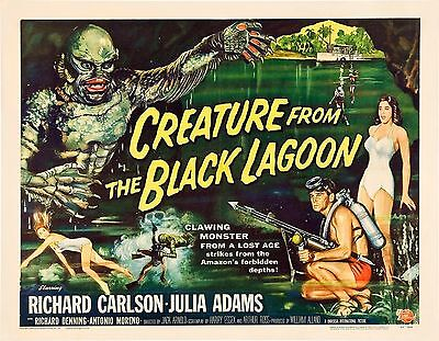 Creature From The Black Lagoon Vintage Movie Silk Fabric Poster Horror