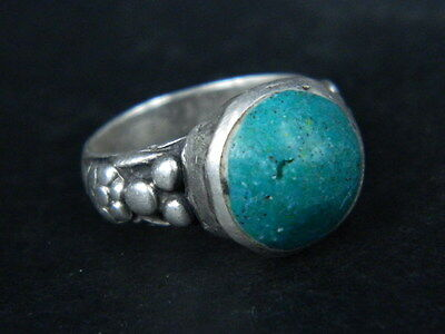 Ancient Silver Ring With Stone Post Medieval 1800 AD  #STC190