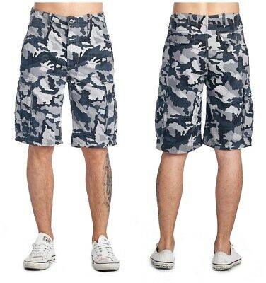 Levi's Men's Ace Cargo Cotton Shorts Regular Fit Trunks Gridley Camo Grey Army