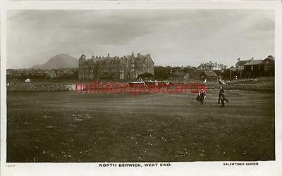 Real Photographic Postcard Of The West End North Berwick, East Lothian, Scotland