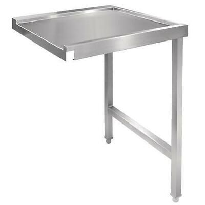 Right Hand Bench for Pass Thru Dishwasher Stainless Steel 1100mm Kitchen WetArea