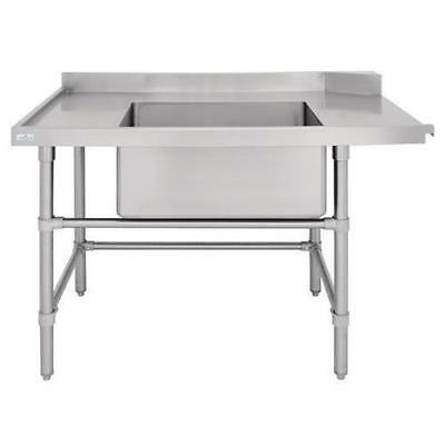Dishwasher Outlet Table w Sink, Left Stainless Steel 1800mm, Commercial Kitchen