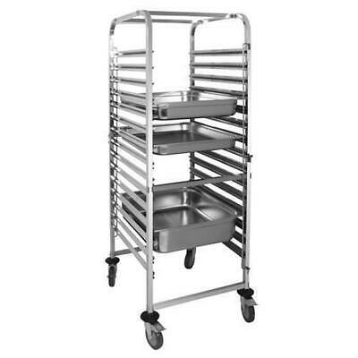 Gastronorm Racking Trolley, 15 Tray Capacity Stainless Steel, Commercial Kitchen