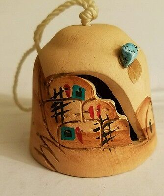 HANDMADE & painted SOUTHWEST theme STYLE bell made in usa
