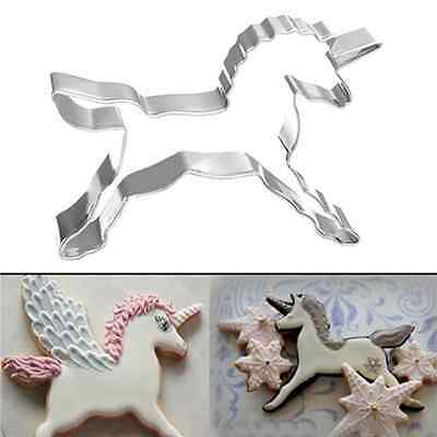 1Pc Unicorn Horse Mold Cookies Cutter Cake Biscuit Pastry Baking Mould Decor Hot