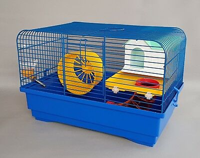 Hamster Cage with Accessories House Wheel Water Battle Mice Mouse Gerbil Pet
