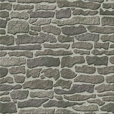 Hobbycraft Dolls House Emporium Grey Stone Wallpaper Roll 60 X 43 Cm Dollhouse