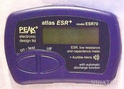 NEW Peak ESR70 Atlas ESR PLUS Capacitor Analyser with audible alerts from JAPAN