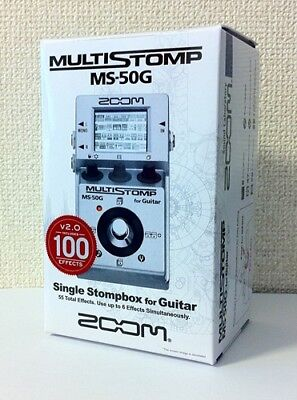 NEW ZOOM MS-50G MULTI STOMP Multi-Effects Guitar Pedal from JAPAN