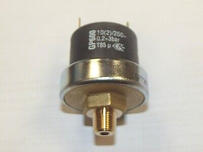 Pressure Switch 0.2 to 3 Bar Range Suitable for Air, Water & Low Pressure Hydrau