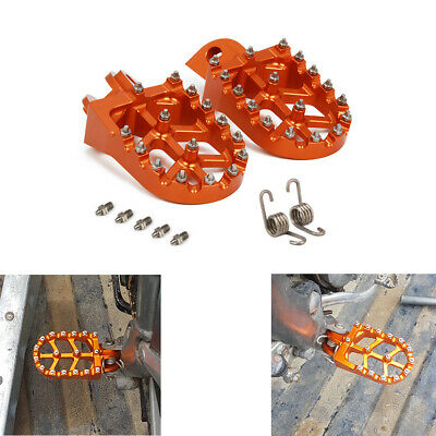 Billet MX Foot Pegs Rests Pedals For KTM EXC SX SXF XC XCW XCF EXCF EXCW XCFW