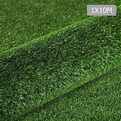 Artificial Grass 10 SQM Polypropylene Lawn Flooring 1X10M Olive Green Shopiverse