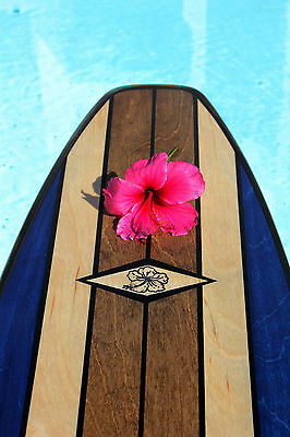 7 Ft Wood Hawaii Surfboard Bar Top Wall Decor Choose your Design and Color