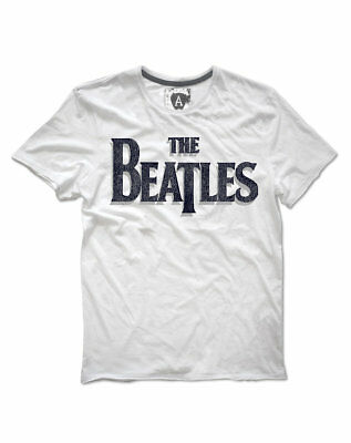 The Beatles 'Logo' T-Shirt (White) - Amplified Clothing - NEW & OFFICIAL!
