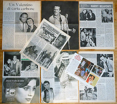 HARRY BELAFONTE 1950s/1990s clippings magazine articles photos
