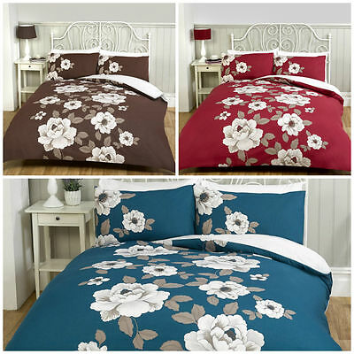Classic Floral Duvet Quilt Cover And Pillowcase Set Single Double King All Sizes