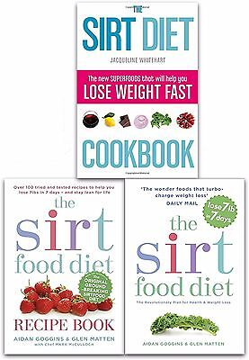 Sirtfood Diet Collection 3 Books Set Recipe Book, Diet Plans, Health Weight Loss