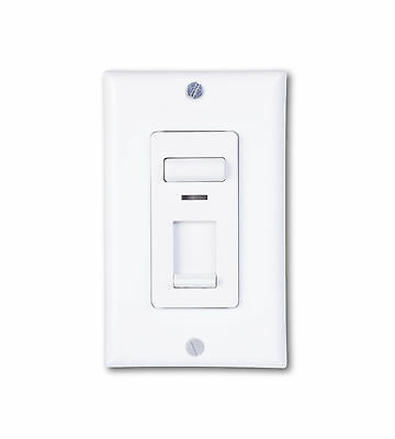 Century 150 watt LED and CFL/600-watt Incandescent Wall Slide Dimmer White Cover