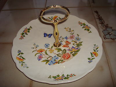 Vintage~Aynsley~Cottage~Garden~Tid~Bit~Tray~Made~In~England
