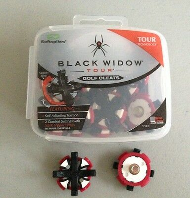 (1) New SOFTSPIKES Black Widow TOUR Small Thread Golf Shoe Cleat Kit Spikes