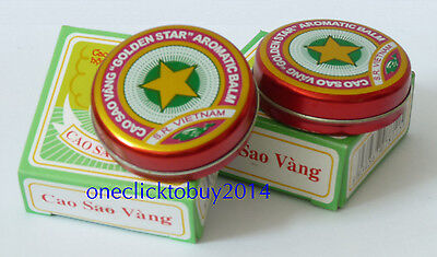 Golden Star Aromatic Balm - Vietnamese Cao Sao Vang Ointment 10g - Free Shipping