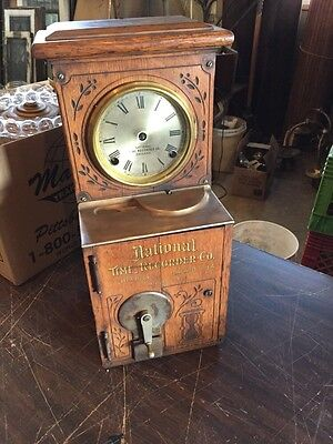 Antique Original Graphics National Time Recordier Company Chicago Ill Small Size