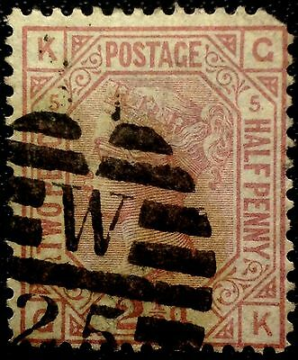 Great Britain Scott # 67  Used Stamp  Value At $53.00 Plate #5