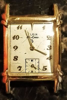 Elgin Deluxs Vintage Wrist Watch 10 Kt Gold Filled Working Condition