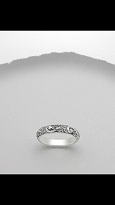 Sterling Silver Bali Style Ring 925 Size 7/N