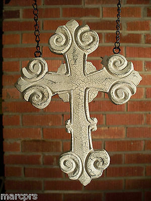 """""""WHITE CROSS"""" Resin Replacement Sign for Country Arrow Holder by K & K Interiors"""