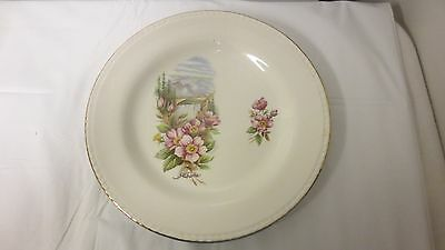 "Older made in England Alberta Marked 9"" Souvenir Plate"