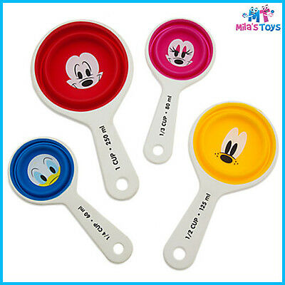 Disney Mickey Mouse & Friends Colourful Kitchen Collapsible Measuring Cup Set bn