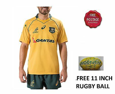 2016 MENS DISCOUNTED NEW Official ASICS Wallabies Australia Jersey S-3XL