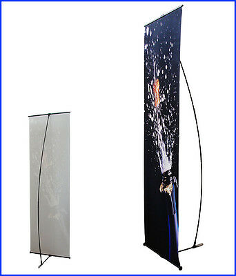 "L Banner Stand W24""xH64"" with Free 13Oz Vinyl Banner Printing L100"