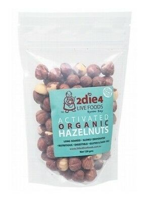 2die4 Live Foods Activated Organic Hazelnuts 120g