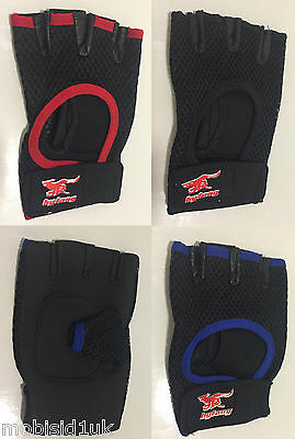 Weight Lifting Gloves Gym Exercise Fitness Padded Body Training Cycling Netted