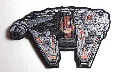 """Star Wars Millenium Falcon Large Die Cut 5.5"""" Patch-USA Mailed (SWPA-FC-26-L)"""