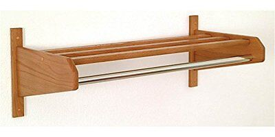 Wooden Mallet 26-Inch Coat and Hat Rack- Uses Small Hook Hangers- Medium Oak