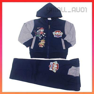 Kids Boys Paw Patrol Hooded Jumper Outfits Tracksuit Track Pants Winter Set Sz