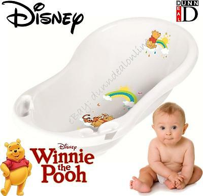 Disney Winnie The Pooh Baby Bath for Newborn Baby Bath (White) Essentials Tub