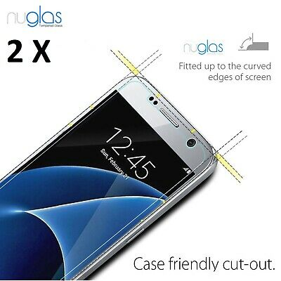 2 X Genuine Nuglas for Samsung Galaxy S7 Tempered Glass Screen Protector