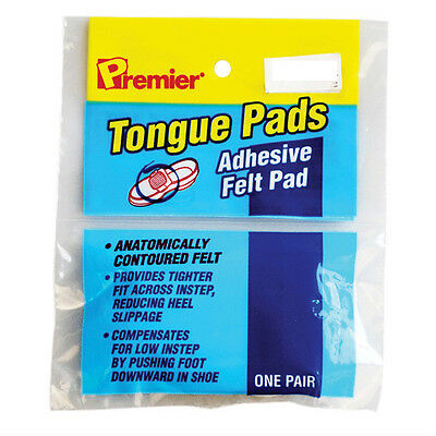 Premier Tongue Pads Self Adhesive Felt Fit Cushion for Shoes 1 Pair