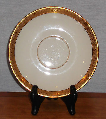 DISCONTINUED LENOX CHINA LOWELL PATTERN SAUCER ONLY for footed tea ...