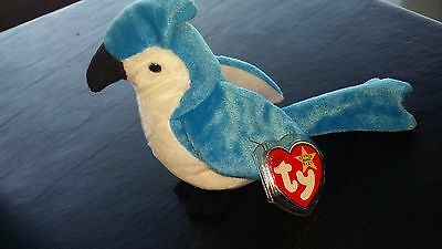 Retired TY Beanie Baby Rocket the Bluejay