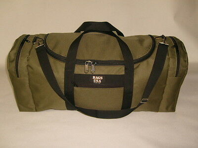 Oversize carry-on with U opening for easy excess, rugby bag Made in U.S.A.